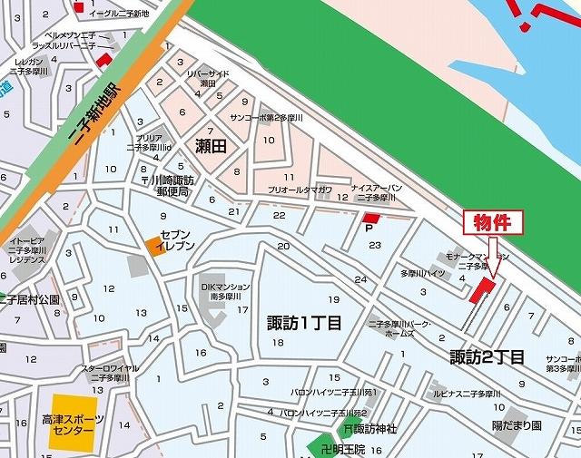 諏訪2丁目地図